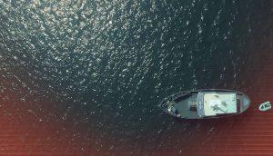 Boat in ocean CRRNT